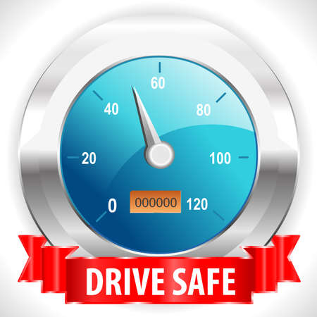 safe driving: drive safe and stay alive icon or symbol - safe driving concept vector
