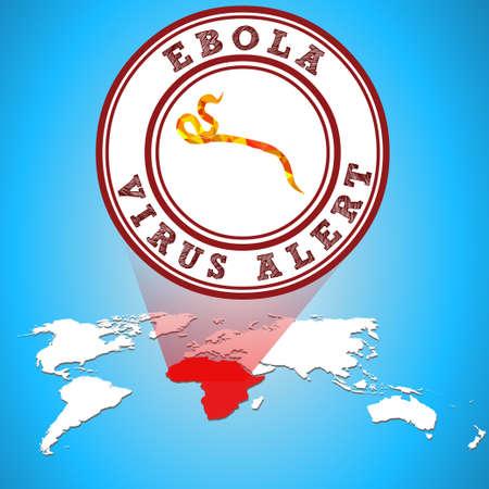 virus alert: Ebola virus alert in Africa - eps10 vector Illustration