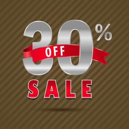 30: 30 percent off, 30 sale discount text- vector EPS10