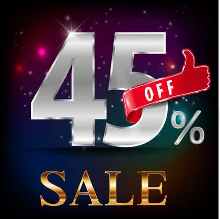 45: 45% off, 45 sale discount hot sale with special offer- vector EPS10