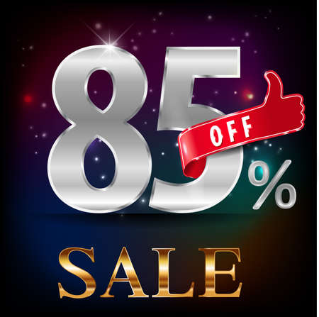 cheaper: 85% off, 85 sale discount hot sale with special offer- vector EPS10