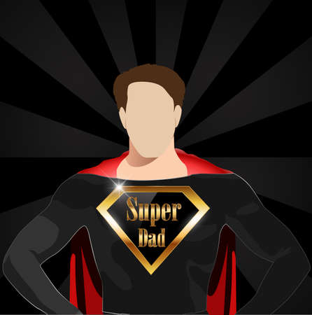 super dad with super hero concept, happy fathers day- vector eps10