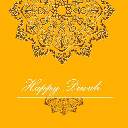 happy diwali card, vintage pattern design background