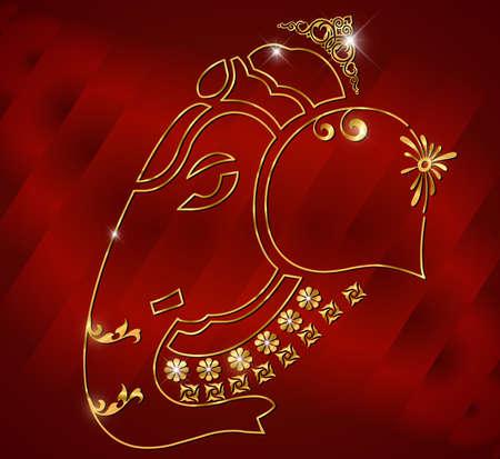 idol: Indian god Ganesha, Ganesh idol  Illustration