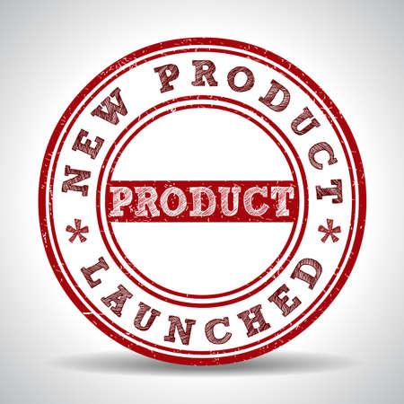 New product launch grunge rubber stamp on white background, vector illustration Vector