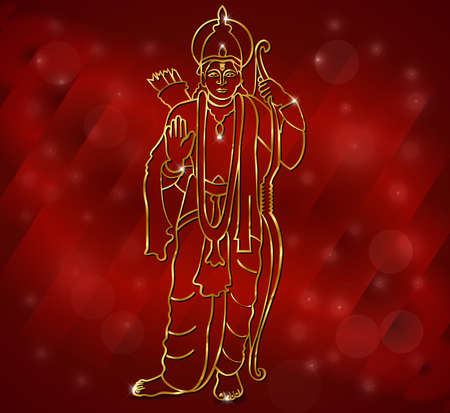 Happy diwali with Illustration of Lord Ram for deepavali vector  Vector