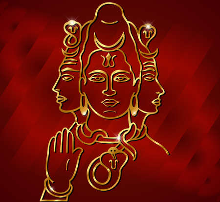 ヒンドゥー教の神の主シヴァのベクトル イラスト