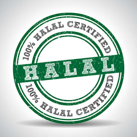 certified: 100% Halal certified product label.