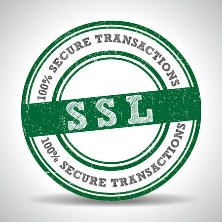 SSL 100% Safety Guarantee seal, security icon - vector eps10 일러스트