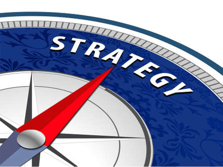 Strategy concept with compass Business Strategy infographics  vector eps10