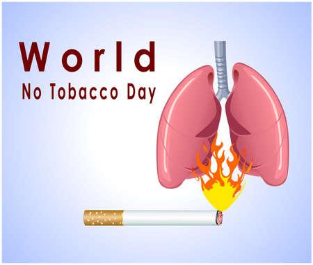 smoking cigarette: no tobacco day poster, no smoking, banner or flyer design with no smoking cigarette background