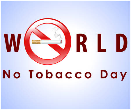 induced: no tobacco day poster, no smoking, banner or flyer design with no smoking cigarette background
