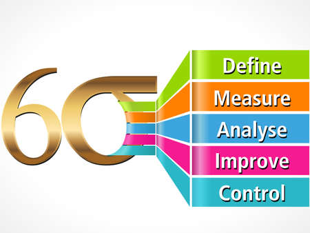 Six-Sigma-Flow-Konzept-Vektor EPS10 Standard-Bild - 38471310