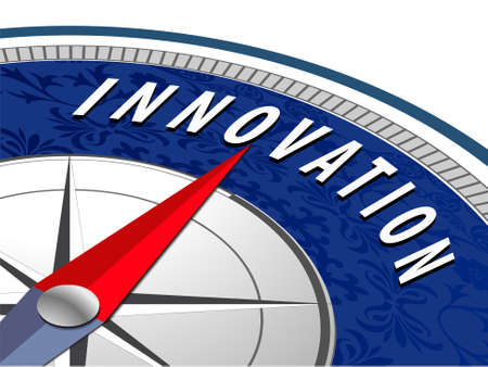 Innovation concept with compass, Business Innovation infographics - vector eps10