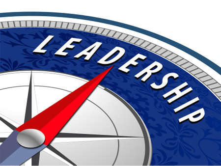 Leadership concept with compass, Business leadership infographics - vector eps10