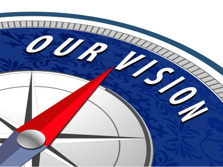 our vision: our vision concept with compass