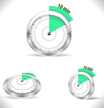 timekeeper: 10 min timers, ten minutes alarm