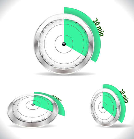 twenty: 20 min timers, twenty minutes alarm