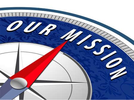 nasza koncepcja misji z kompasem Ilustracje wektorowe