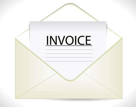 payable: factura con el documento de negocios sobre el icono del vector eps10