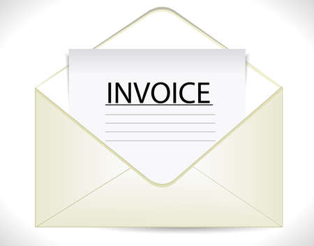 receivable: invoice with envelope business document icon  vector eps10