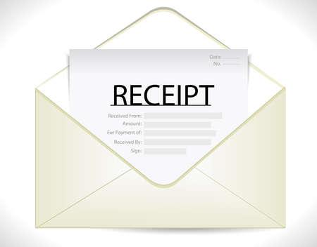 receipt: Vector envelope with receipt icon  eps10 Illustration