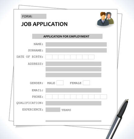minimalist: minimalist cv  resume template  job application form  vector eps 10