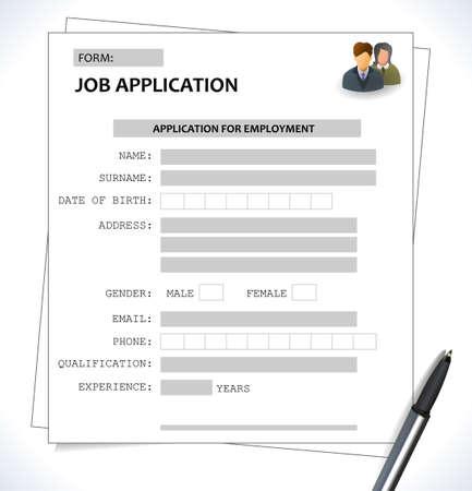 minimalist cv  resume template  job application form  vector eps 10
