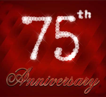 75 Year Happy Birthday Card 75th Birthday Vector Eps10 Royalty Free