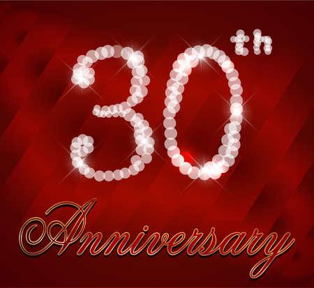 30 Year Happy Birthday Card 30th Birthday Vector Eps10 Royalty Free