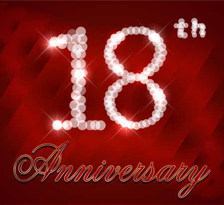 happy 18th birthday: 18 year Happy Birthday Card 18th birthday  vector EPS10