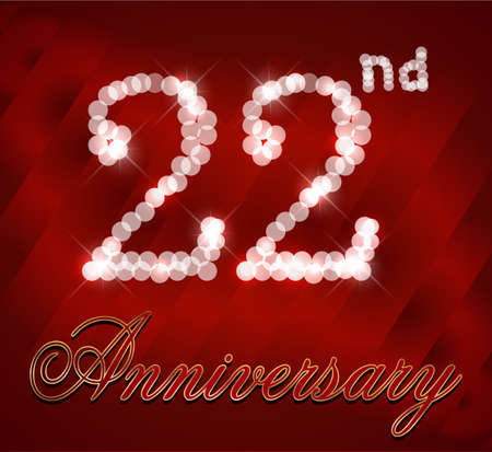 22 Year Happy Birthday Card 22nd Birthday Vector Eps10 Royalty Free