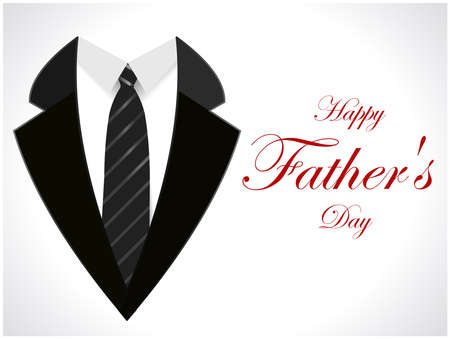 happy fathers day greeting card with coat and necktie  vector illustration eps10 Illustration