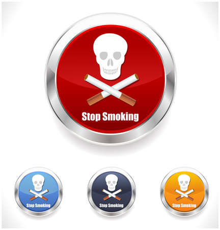 pernicious habit: stop smoking sign vector Illustration on white background with skull Illustration
