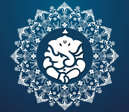 idol: Indian god ganesha, Ganesh idol flat design- vector eps10