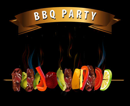 BBQ, Barbecue Menu Infographics - vector eps10