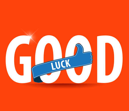 good luck sign with thumbs up