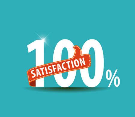 satisfaction guaranteed: 100 Customer satisfaction guaranteed typographic label
