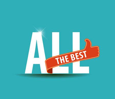 buena suerte: Todo lo mejor gr�fica de motivaci�n para los mejores deseos, buena suerte - vector eps10