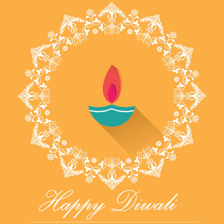 Decorative diwali lamps happy diwali greeting card flat design decorative diwali lamps happy diwali greeting card flat design vector eps10 stock vector m4hsunfo
