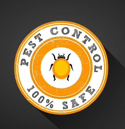 pests icon, pest control 100 safe graphic flat design - vector eps10