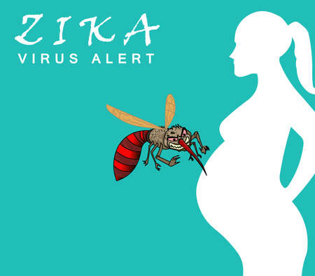 Zika Virus Outbreak and Travel Alert concept. transmitted by mosquito and it is linked to cause microcephaly on infected pregnant women