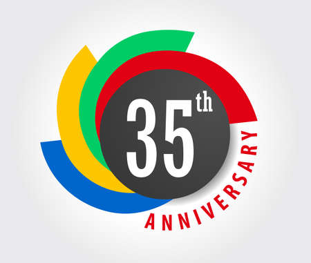 35th Anniversary celebration background, 35 years anniversary card illustration