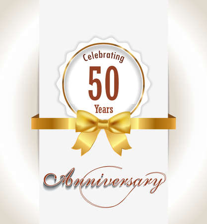 50th Anniversary background, 50 years celebration invitation card vector eps 10