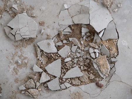 disintegration: Foundations Stock Photo
