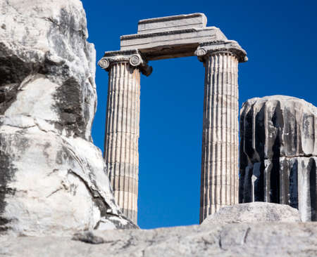 oracle: Temple and Oracle of Apollo in Didyma, Turkey Stock Photo