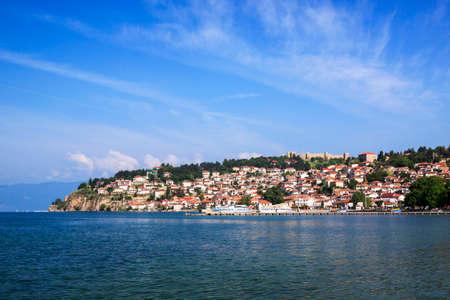 Ohrid is on coast lake Ohri in Macedonia