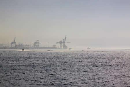 haydarpasa: Big crane on Haydarpasa seaport in Istanbul, Turkey