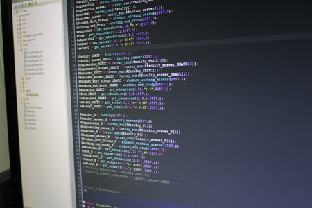 prompt: PHP source code Stock Photo