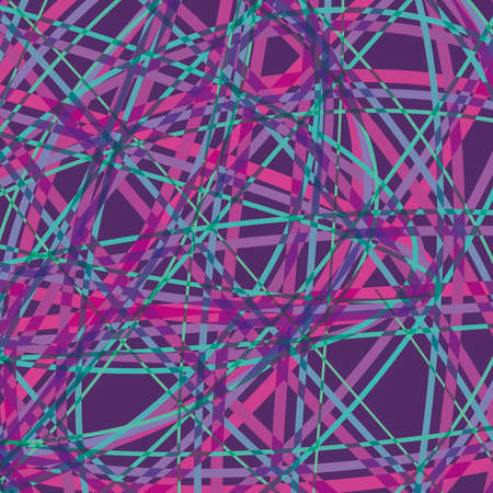Abstract Lines blue, pink on Purple background; Vector